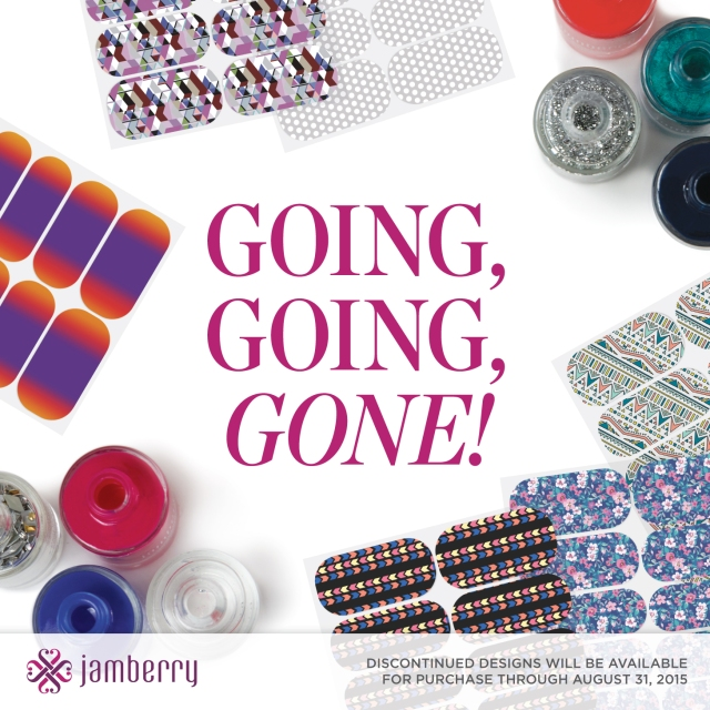 Last day to order Jamberry Going Going Gone Spring/Summer 2015 nails ...